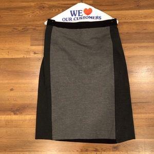 Ponte pencil skirt Ann taylor color-block. 16T